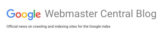 Visual of the Google Webmaster Central Blog
