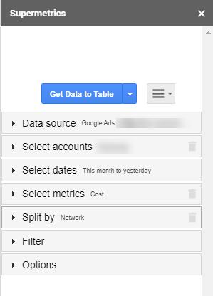 How to pull Supermetrics data into Google Sheets