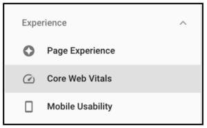 GCS Core Web Vitals Tab