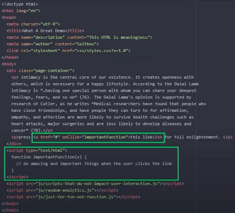 Browser main thread pre-loaded Javascript